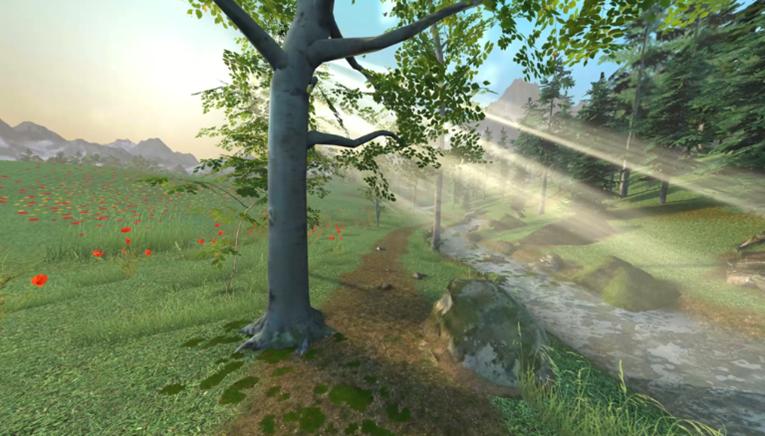 Digital Sedation module showing a journey through 4 seasons